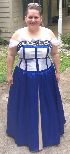 TARDIS ballgown