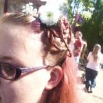 Tamara got some pretty braids done.